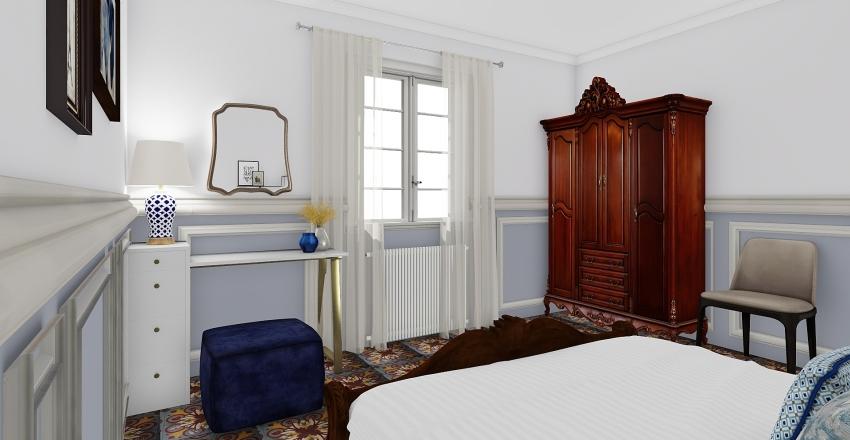 Bedroom for friends Interior Design Render