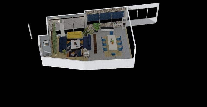 Depto Familia Cruz 2 Interior Design Render