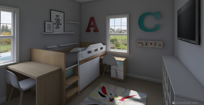 Stanford Playroom Interior Design Render