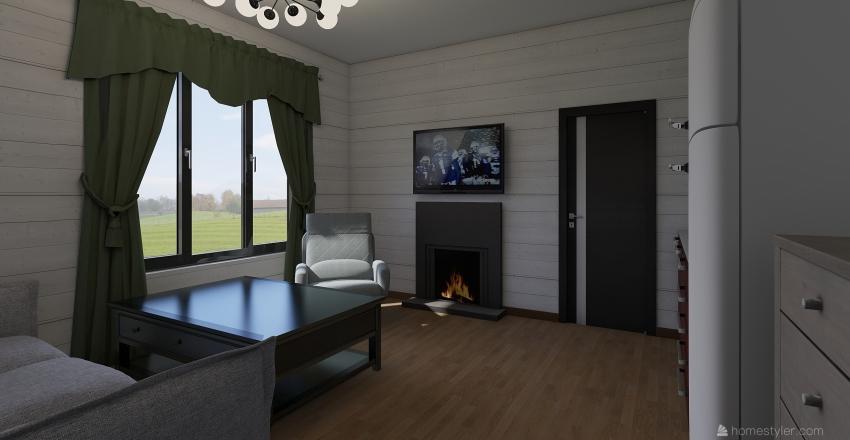 Баня 8700 на 6000 Interior Design Render