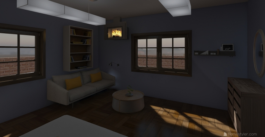 Morning Winter Home  Interior Design Render