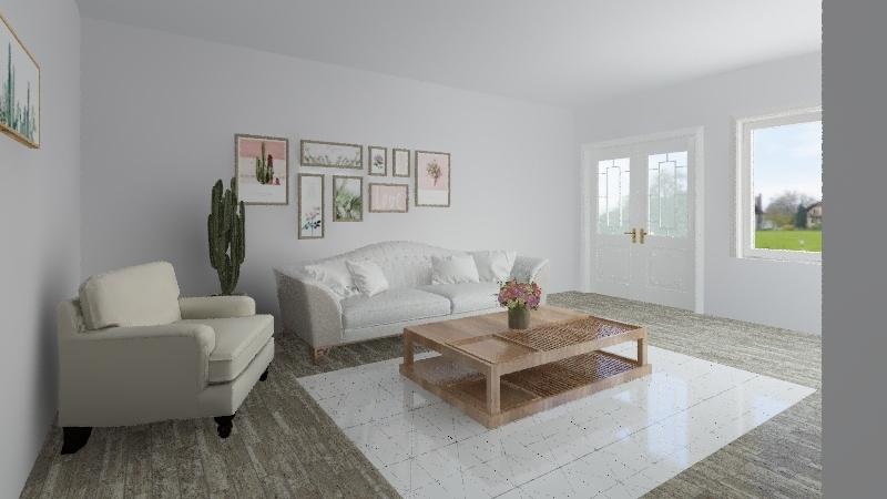 Shabby Chic Interior Design Render