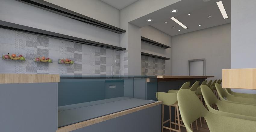 comes bancone nero Interior Design Render