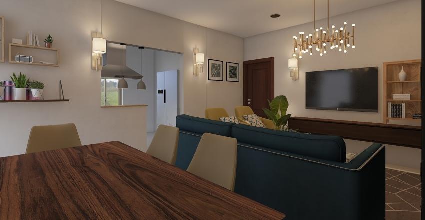 Living Room Mr. Manoj Interior Design Render
