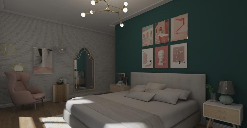 Pretty in Gold Interior Design Render
