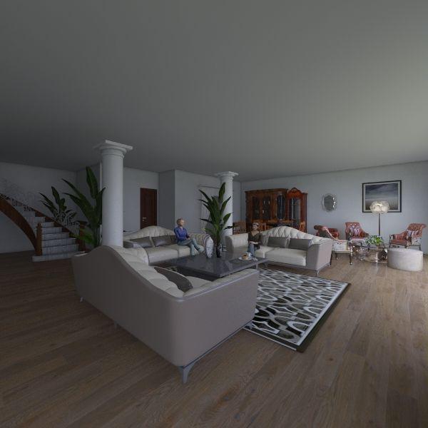 нагет с мебелью Interior Design Render