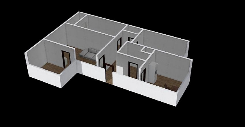 4+1 Praha Hloubetin Interior Design Render