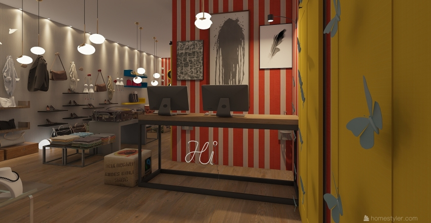 shop Interior Design Render