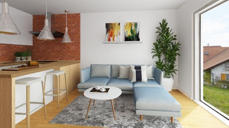 Modern flat v.3 Interior Design Render