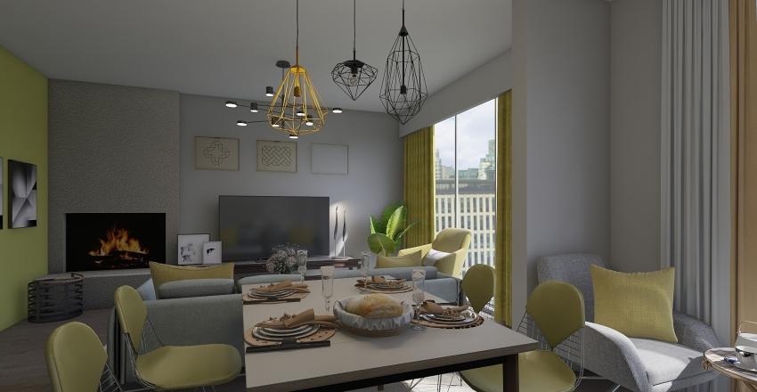 Bright home Interior Design Render
