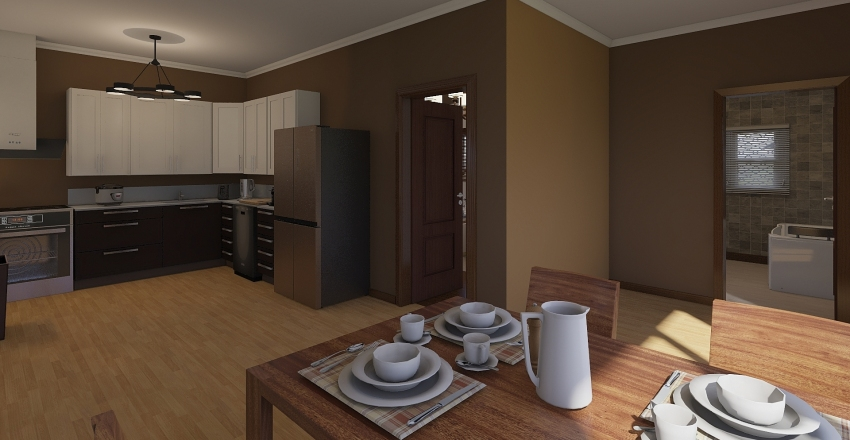 Small Rental Interior Design Render