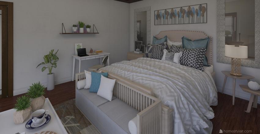 Beautiful room  with lots of lighting Interior Design Render