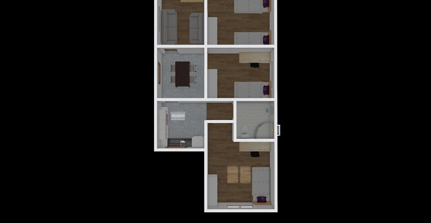 Casa Reformada Interior Design Render
