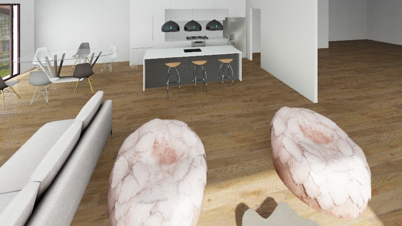 Groung Floor Interior Design Render