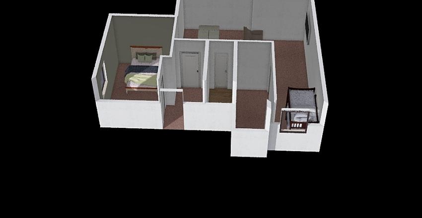 Osoyoos Cottage basement Interior Design Render