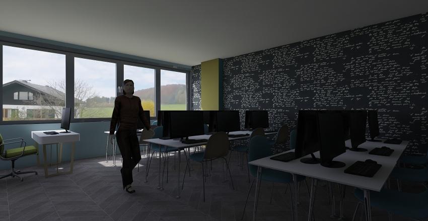 salon computo Interior Design Render