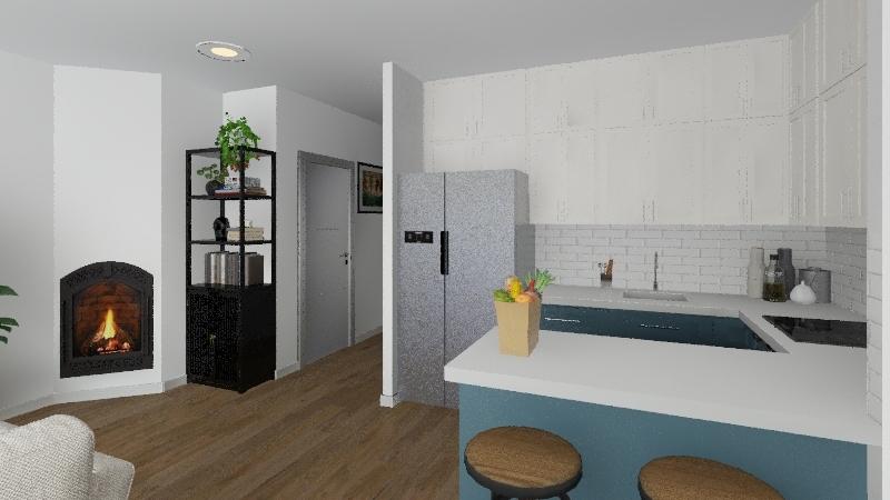 Modern flat v.5 Interior Design Render