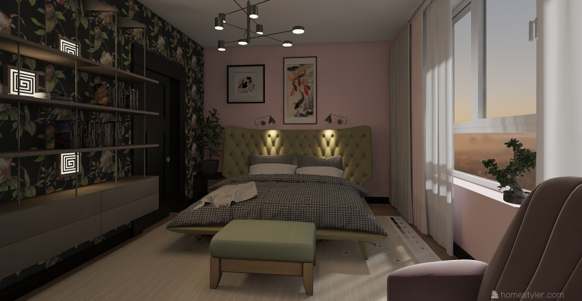 Industrial oasis Interior Design Render