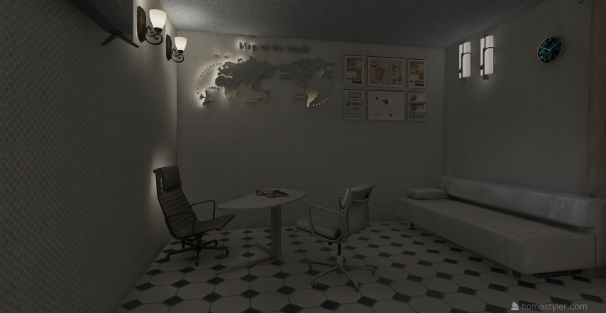 A Company Interior Design Render
