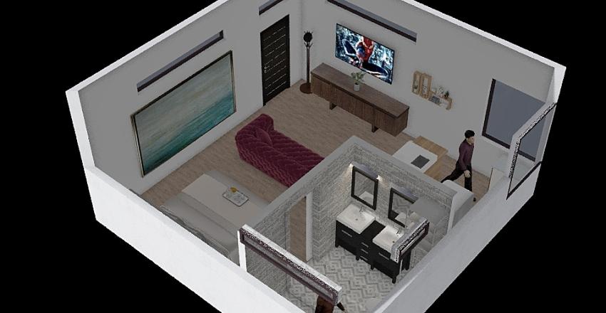 480 sq.ft Apt. #1 Interior Design Render