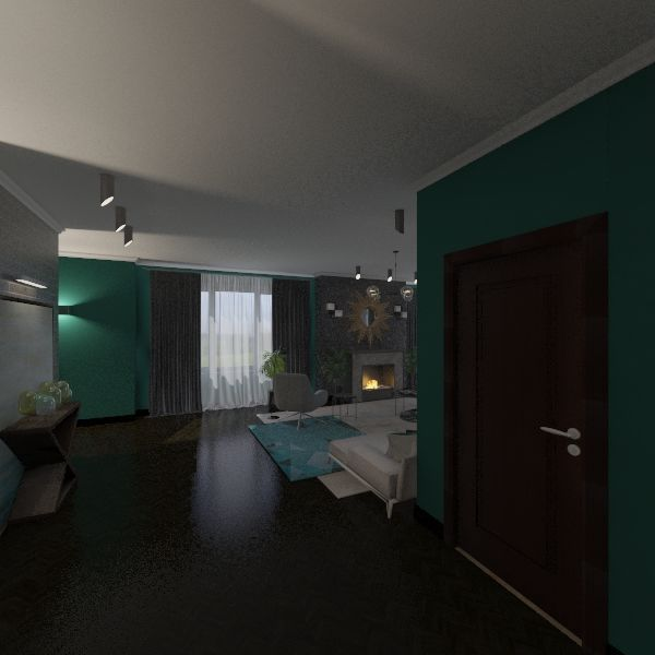 Квартира в стиле лофт 2 Interior Design Render