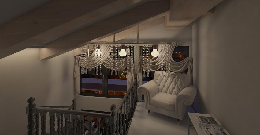 Attic-Style home Interior Design Render