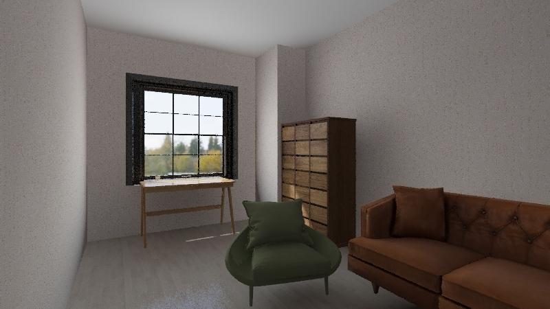 pokoj dzienny Interior Design Render