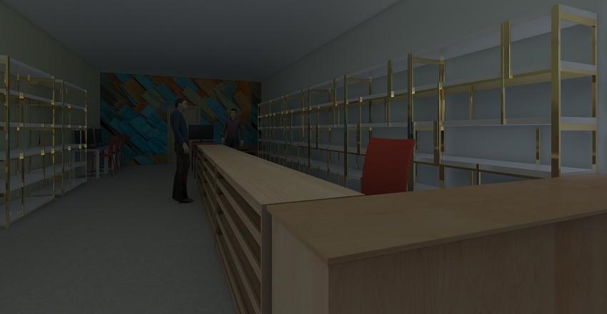 Papeleria Interior Design Render