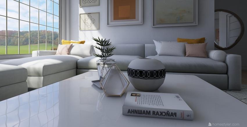 Scandinavian Style House Interior Design Render