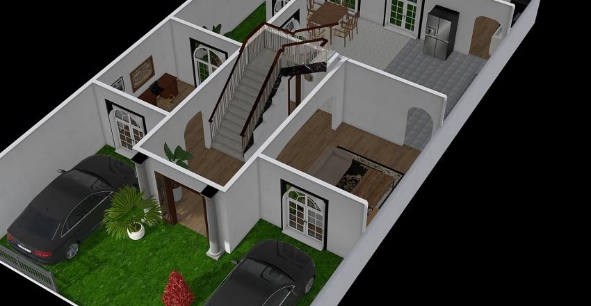 Casa_1st_floor Interior Design Render