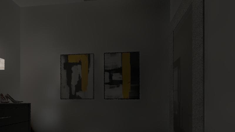 Interior Design Project - Yellow House Interior Design Render