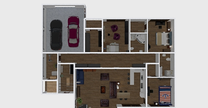 Gorbachev (Kamish) 299.24 m2 Interior Design Render