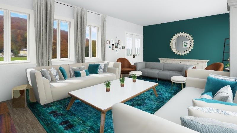 Padilla's Living Room Perfect for Sunday Funday! Interior Design Render