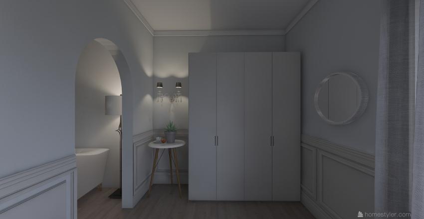 classic style bedroom Interior Design Render