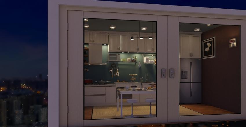 1 wall kitchen style Interior Design Render