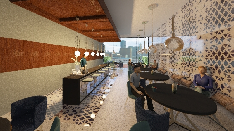restaurante-bar Interior Design Render