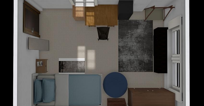 room for 1 ppl Interior Design Render