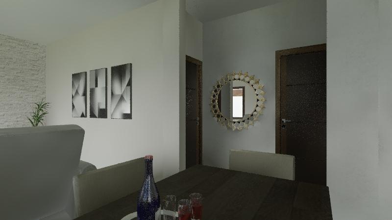chcara decorada Interior Design Render