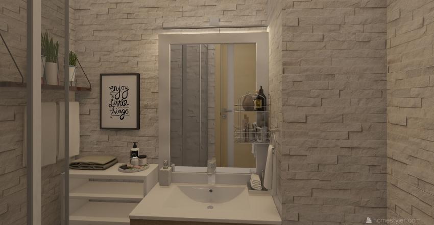Tiny bathroom Interior Design Render