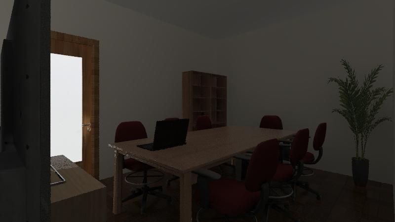 Estudo Sala Multimídia Interior Design Render