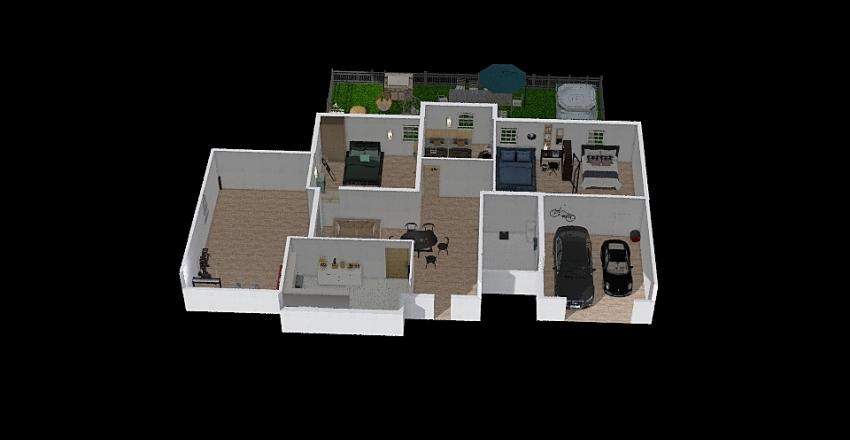Apartement 6 Interior Design Render