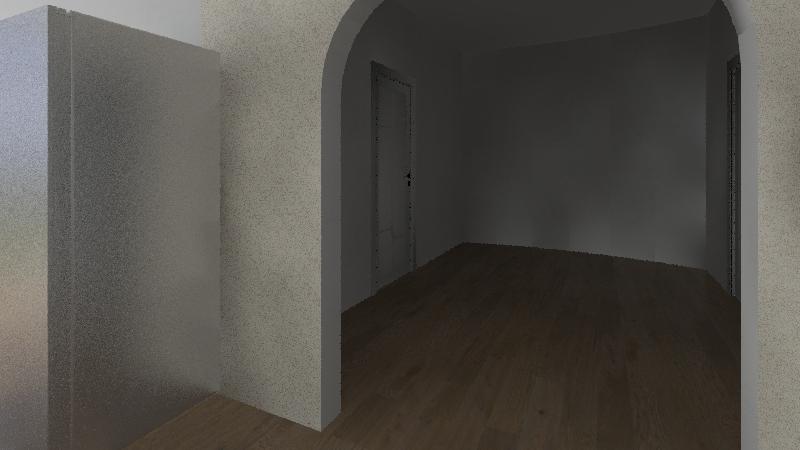 round cob house Interior Design Render