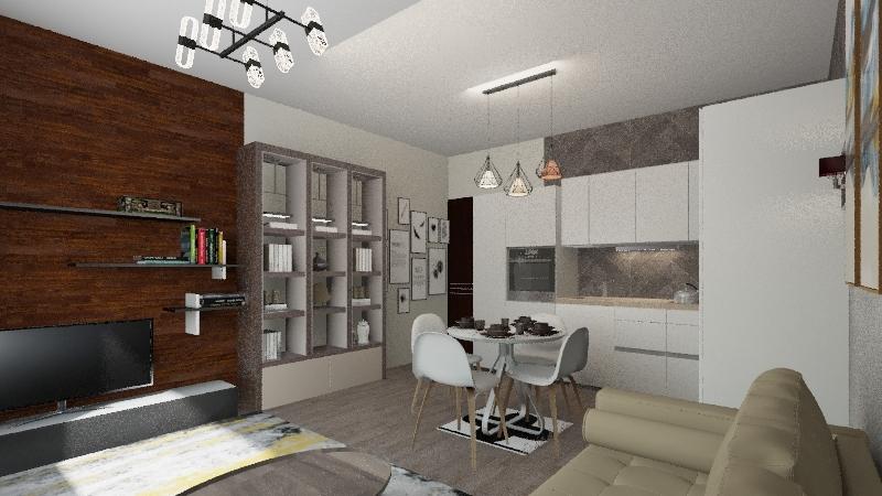 Gdynia Redlowo Interior Design Render