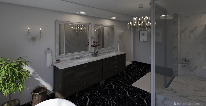 Luxe Master Bedroom Interior Design Render