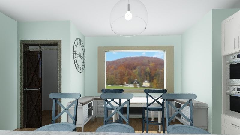 kitchen plan Interior Design Render