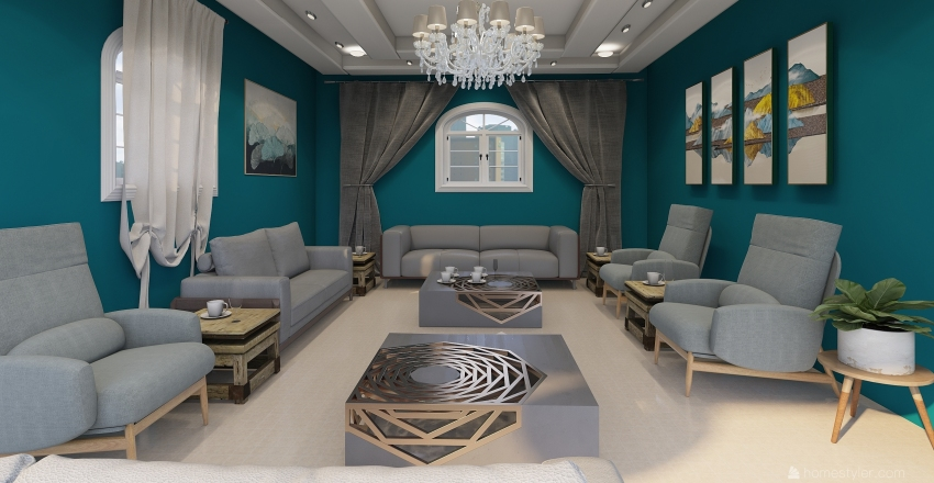 frau fatima Interior Design Render