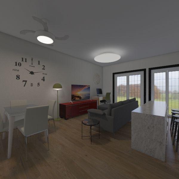 Salon-Comedor-Cocina-V3+ISLA Interior Design Render