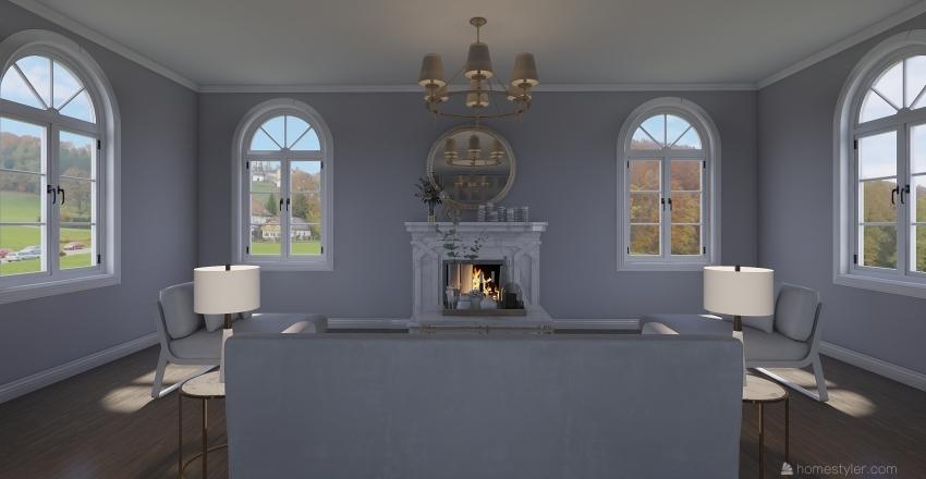 Brunch Room Interior Design Render
