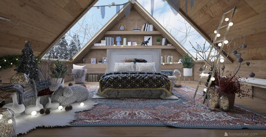 Atmosfera natalizia Interior Design Render