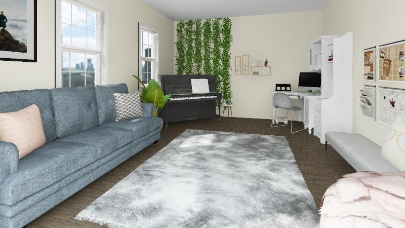 Anna's Living Room Interior Design Render